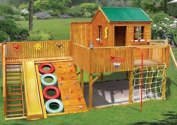 Спортивный игровой уголок для детей на даче