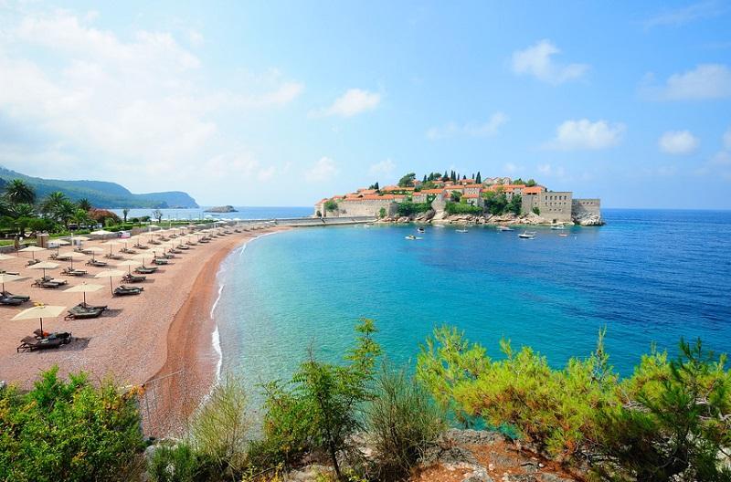 Черногория, пляж Святой Стефан