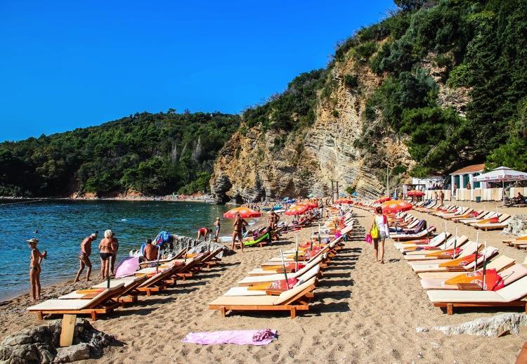 Черногория, пляж Могрен