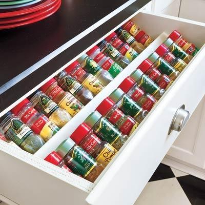 Подставка для хранения специй в столе