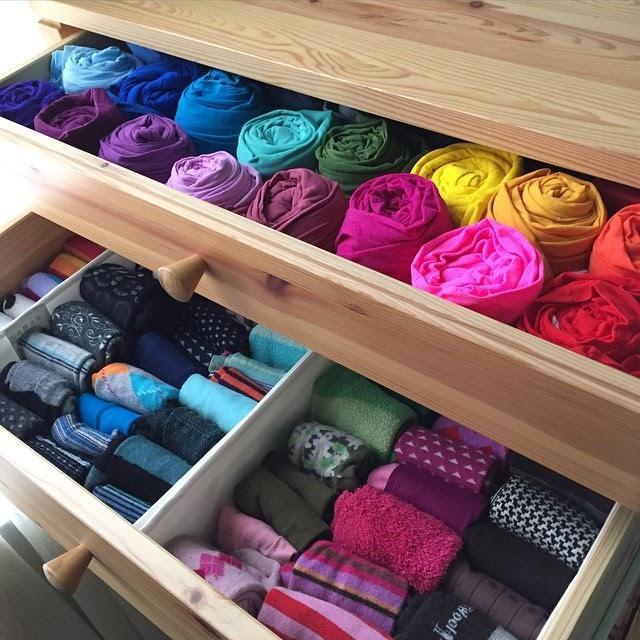 Правила хранения вещей и уборка в шкафах по конмари