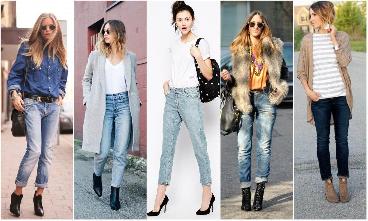 С чем носить джинсы герлфренды