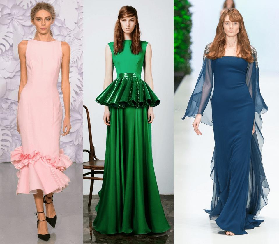 Модные фасоны платьев на Новый 2017 год Огненного Петуха
