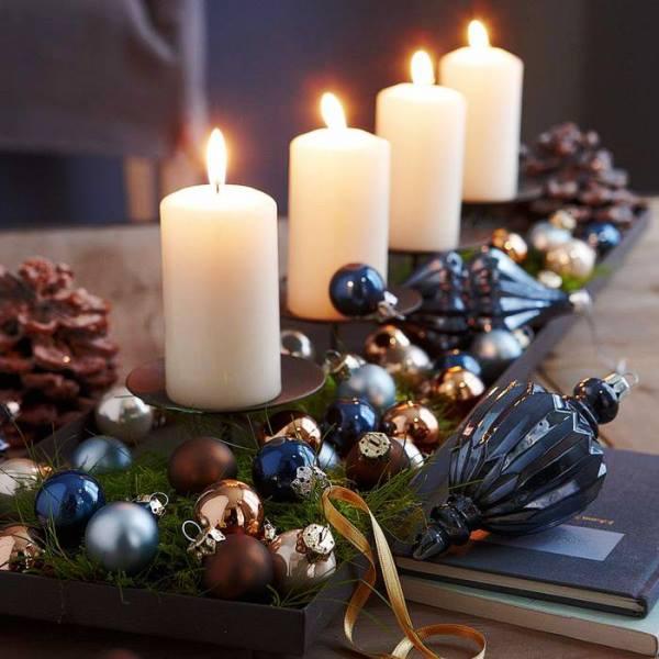 Свечи на новогодний стол 2017