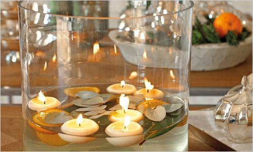 Украшение свечей на новогодний стол 2017 Петуха
