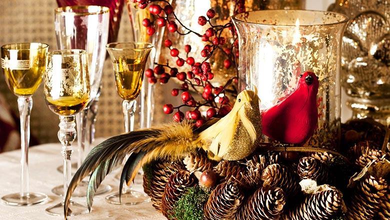 Гнездо на новогодний стол