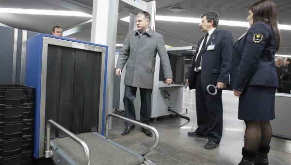 Проверка интроскопом в аэропорту перед вылетом