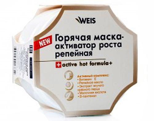 Горячая репейная маска Активатор роста Weis active hot formula +