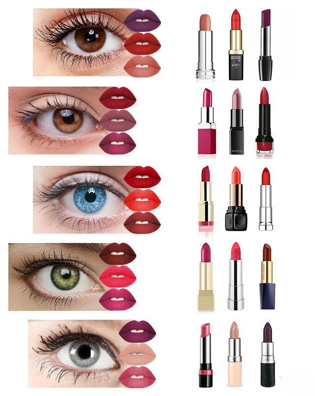 Как подобрать помаду к цвету глаз?