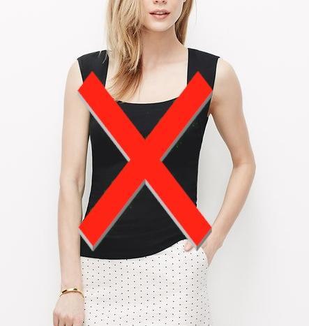 Что нельзя носить при широких плечах женщине?