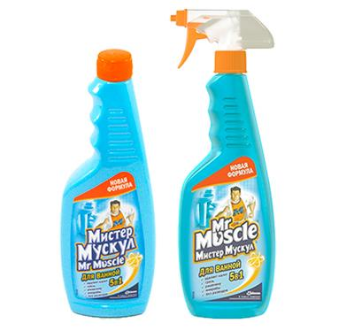Mister Muscle для чистки чугунных эмалированных ванн