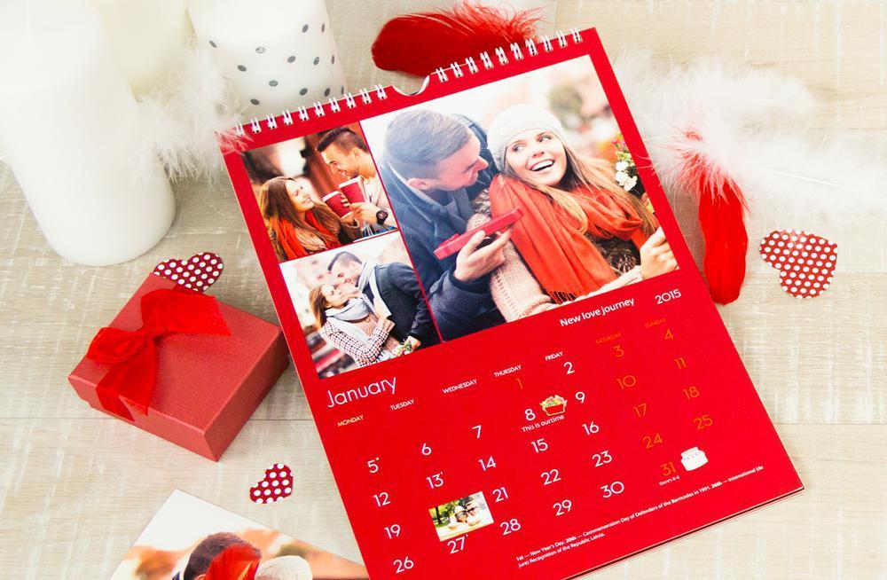 В подарок семейной паре - фотокалендарь