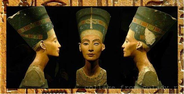 Бюст Нефертити, найденный при раскопках