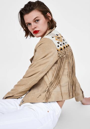 Курточка с бахромой из Zara