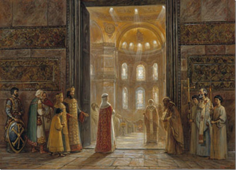 И.Машков «Княгиня Ольга вступает в храм Св.Софии»