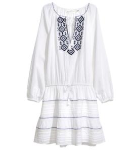 Платье с вышивкой из H&M