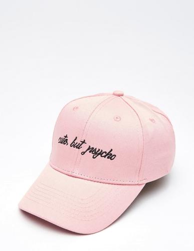 Розовая бейсболка из Cropp