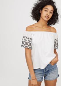 Топ с опущенными плечами из H&M