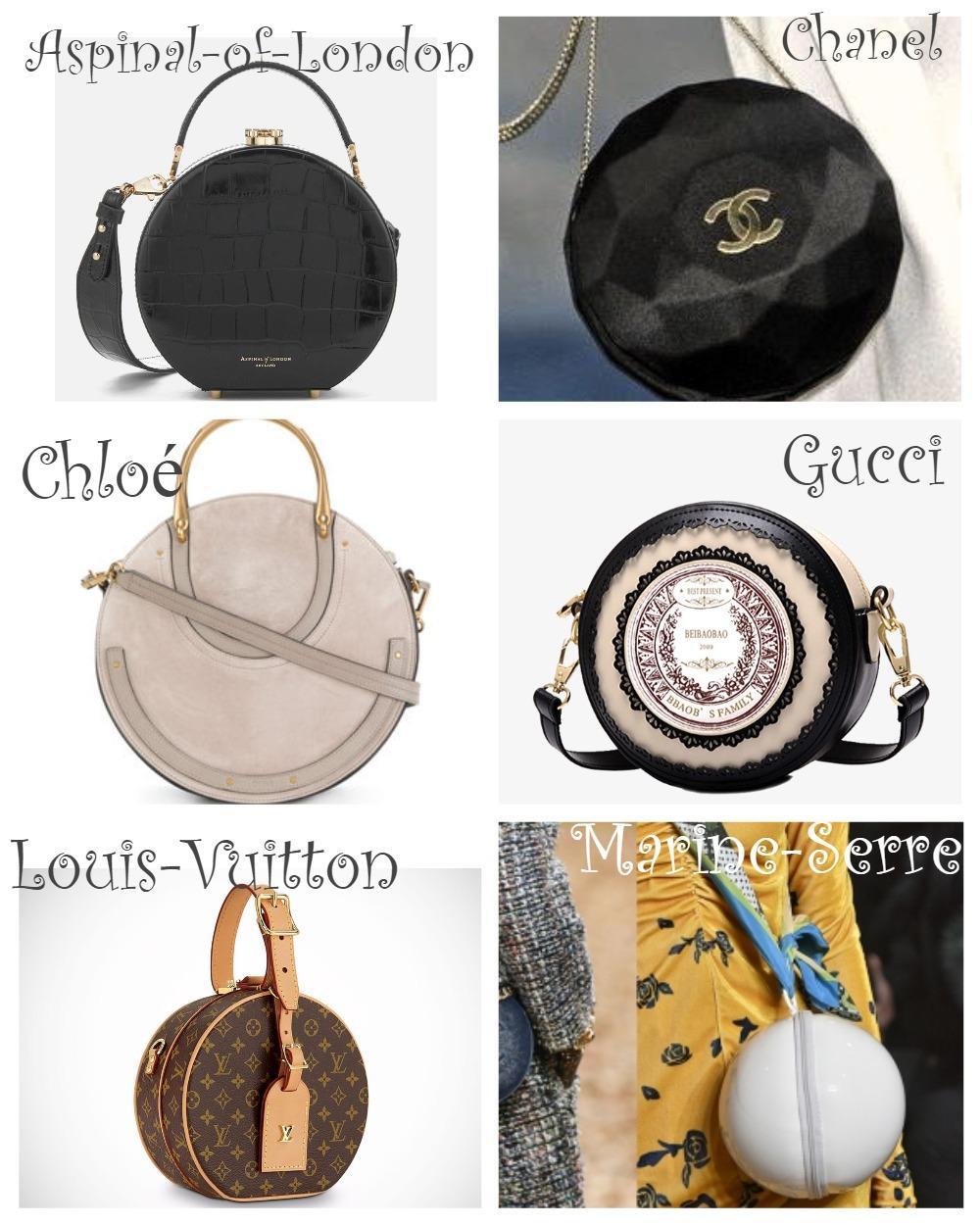 Модные круглые сумки 2018-2019