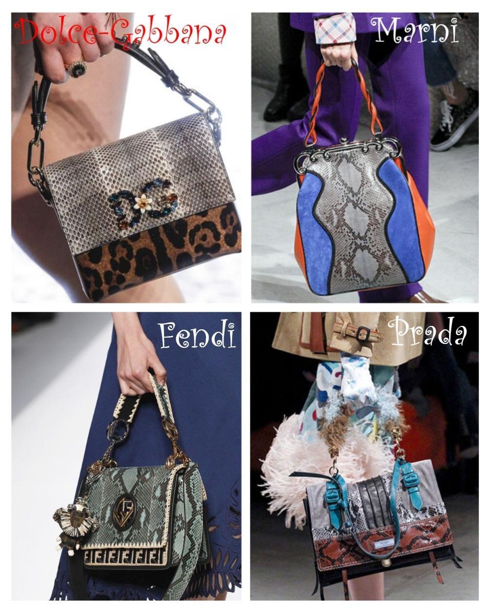 Змеиный принт сумок 2018-2019