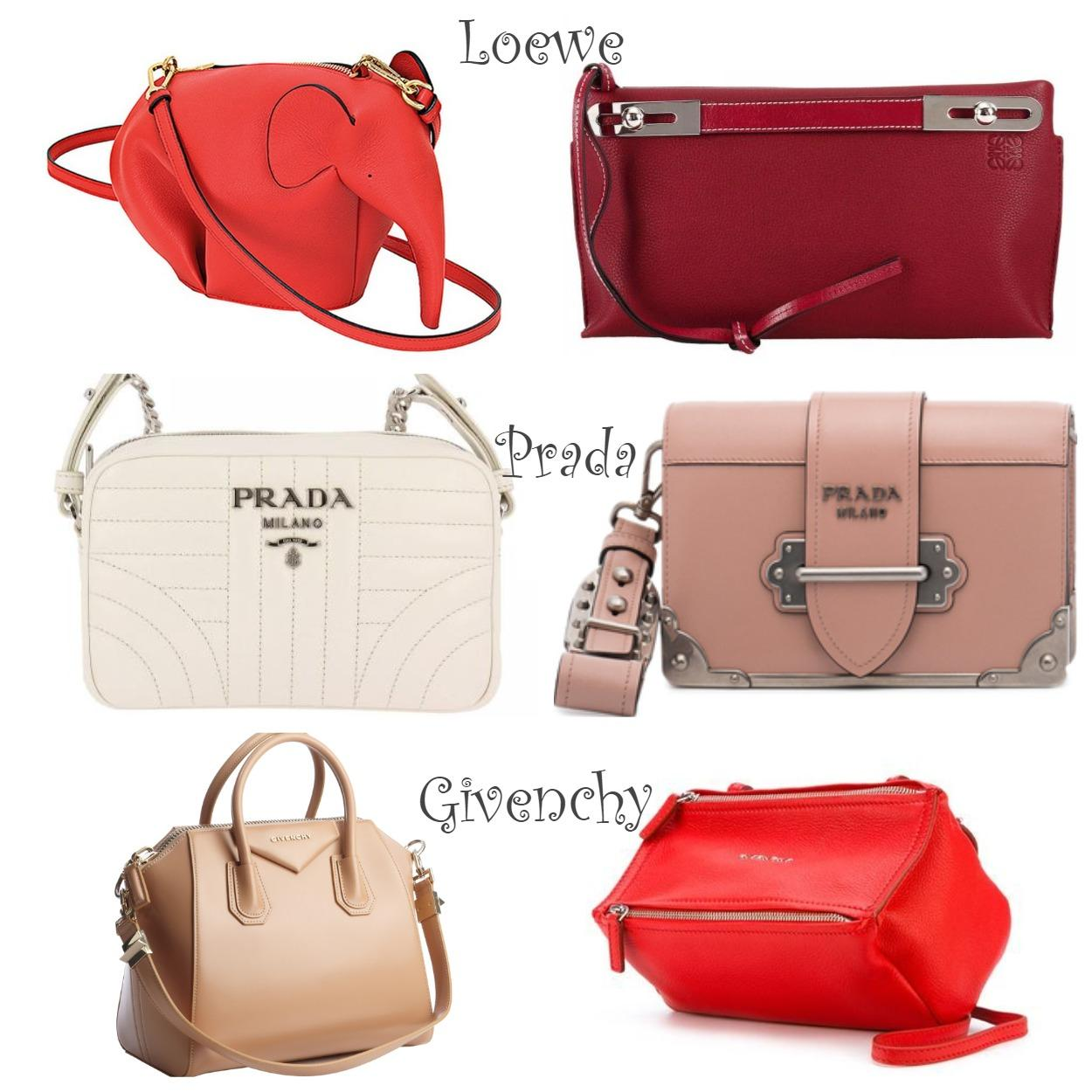 Модные мини-сумочки Loewe, Prada, Givenchy