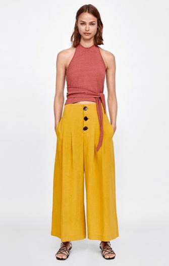 Желтые брюки из Zara