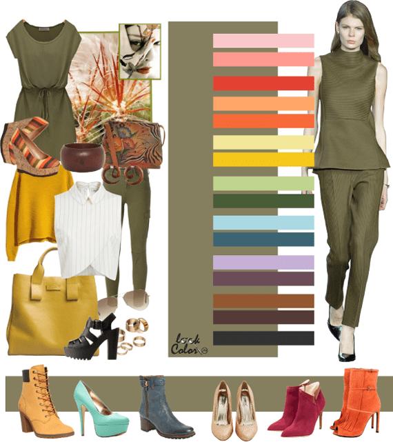 Цвет хаки в женской одежде