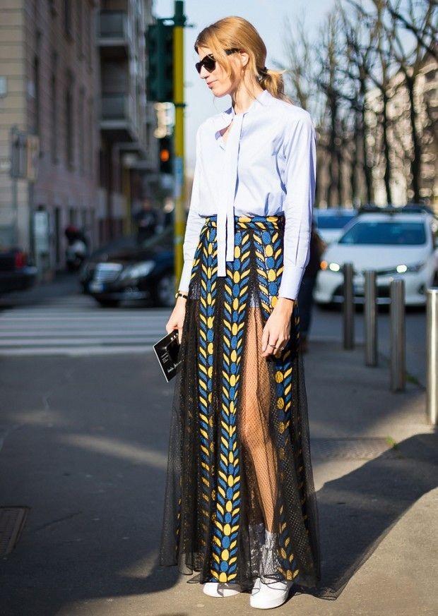Модные юбки макси - с чем и куда носить длинные юбки в пол