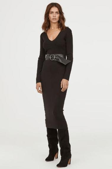 Платье тонкой вязки из H&M