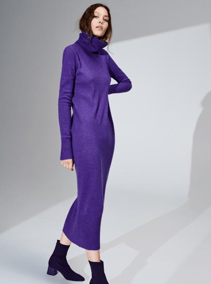 Ультрафиолетовое платье