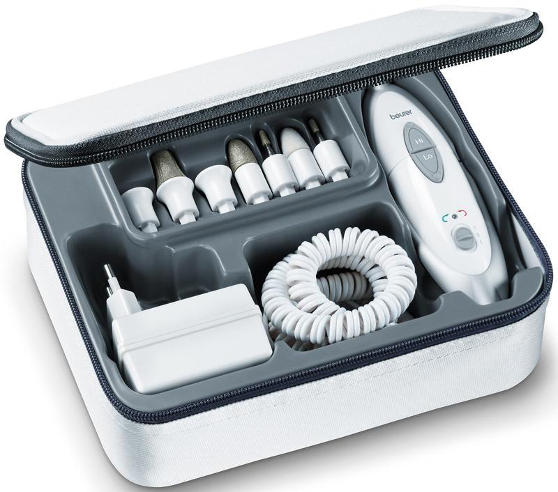 Устройство с насадками для аппаратного маникюра и педикюра, Sanitas