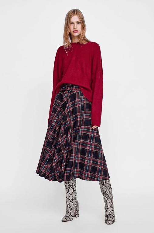 Клетчатая юбка из Zara