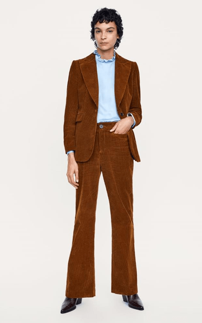 Костюм коньячного цвета из Zara