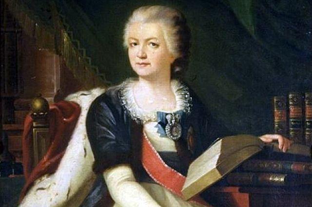 Екатерина Романовна Дашкова. Неизвестный художник, 1790 гг. Фрагмент картины