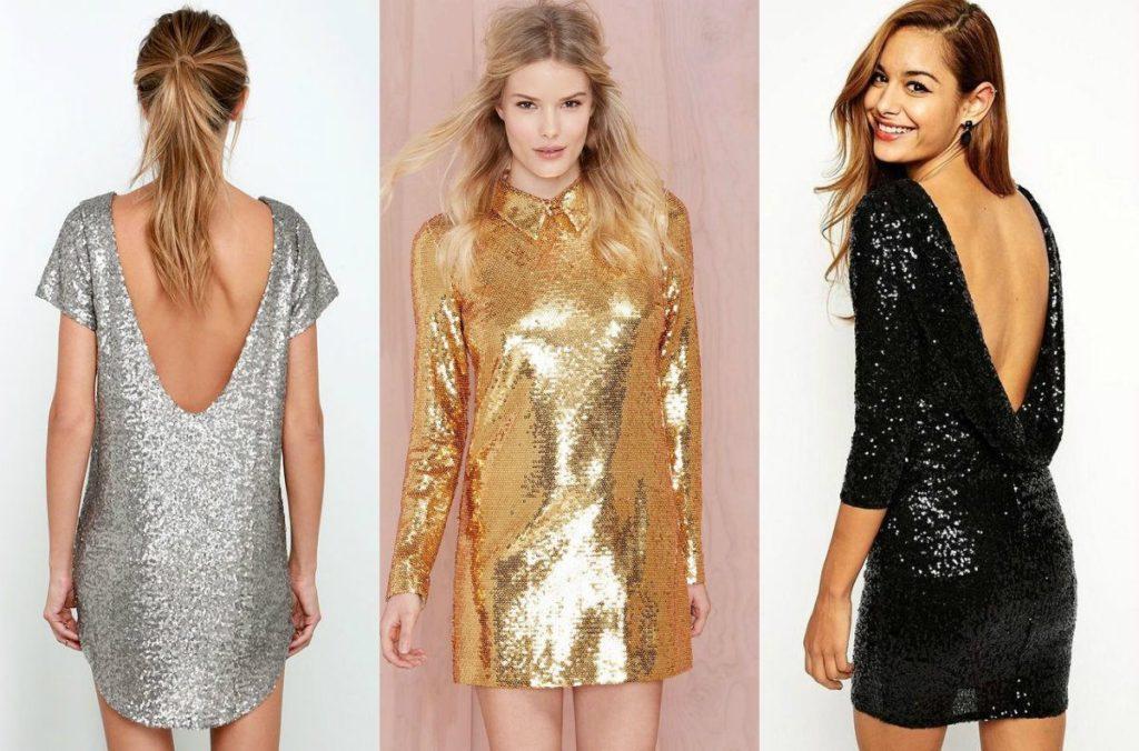 Платье с блестками