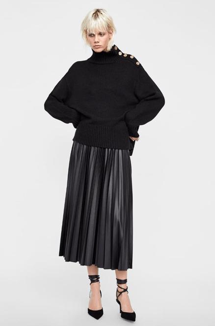 Плиссированная юбка из Zara