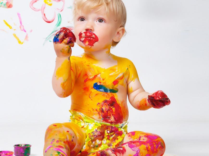 Пальчиковое рисование с малышом 1-3 лет