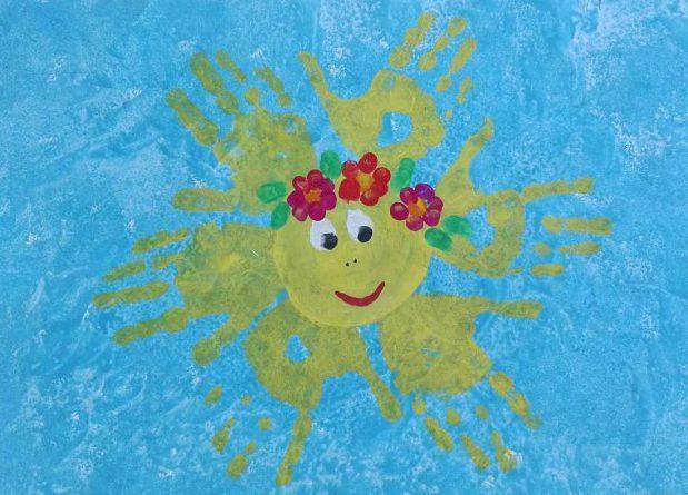 Рисование пальчиками и ладошками с детьми 1-3 лет – солнышко