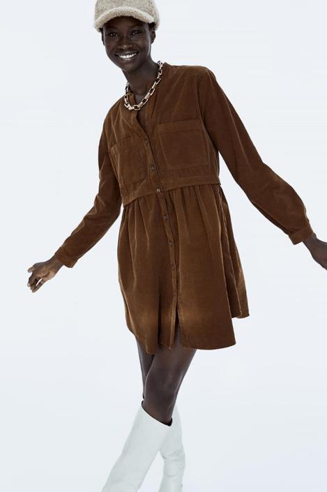Вельветовое платья Zara