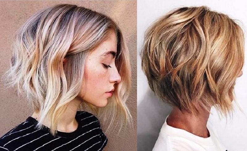 Градуированное каре на прямые волосы