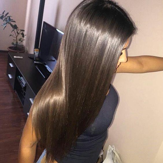 Стрижка супердлина на прямые волосы
