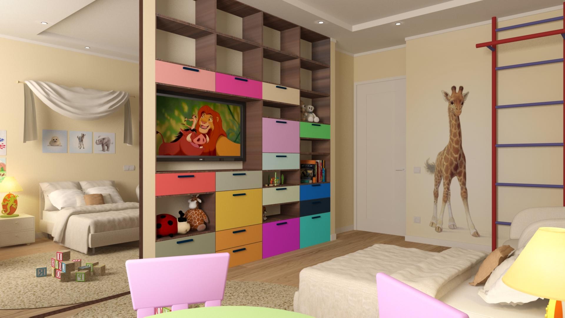 Как разделить комнату для родителей и ребенка вместе