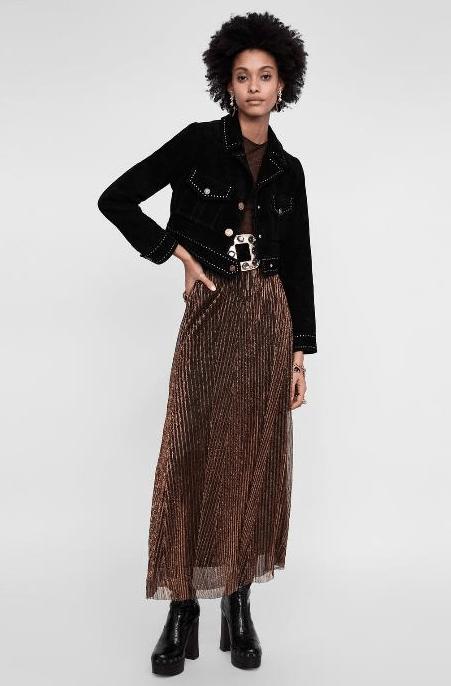 Длинная юбка с металлизированной нитью