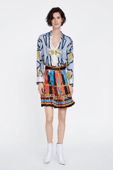мини-юбка с плиссировкой