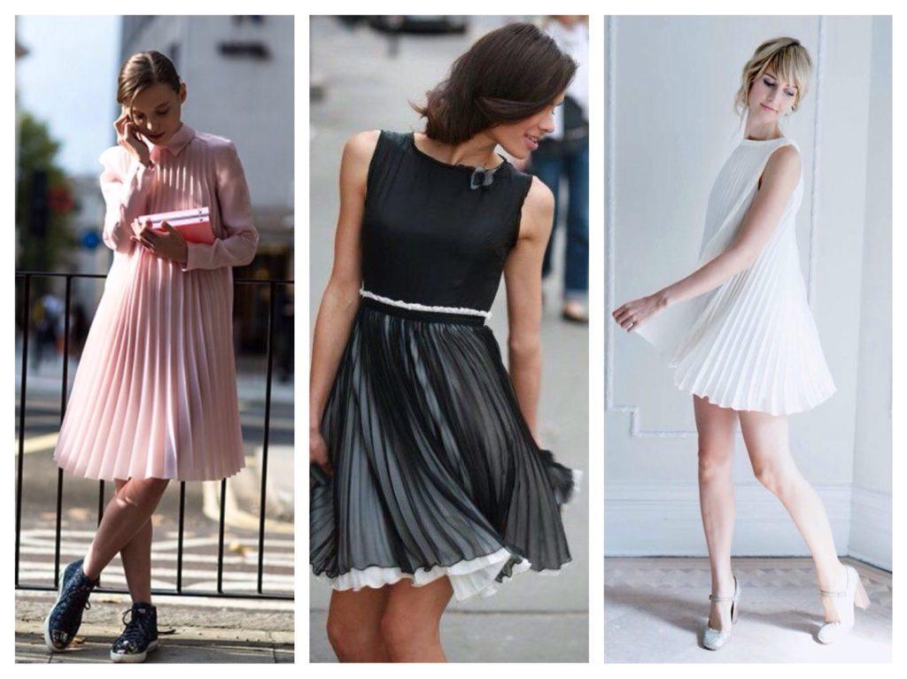 Плиссированные платья и юбки
