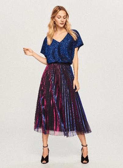 Разноцветная юбка из тюля
