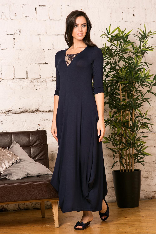 Синее платье Petit Pas