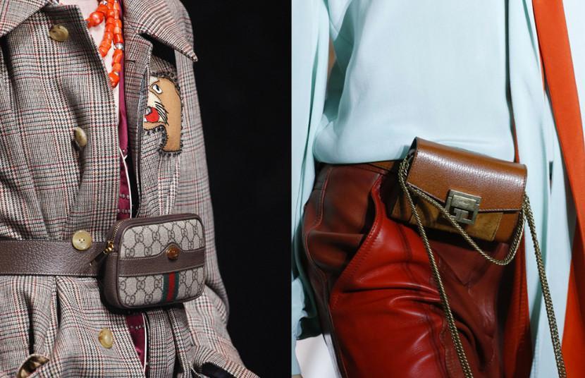 Поясные сумки от Gucci и Givenchy