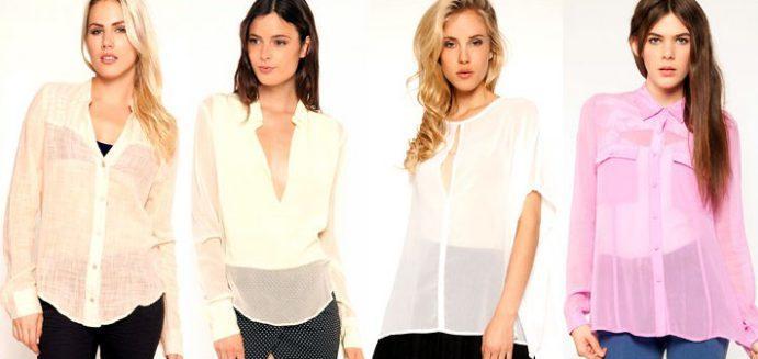 Модные полупрозрачные блузки