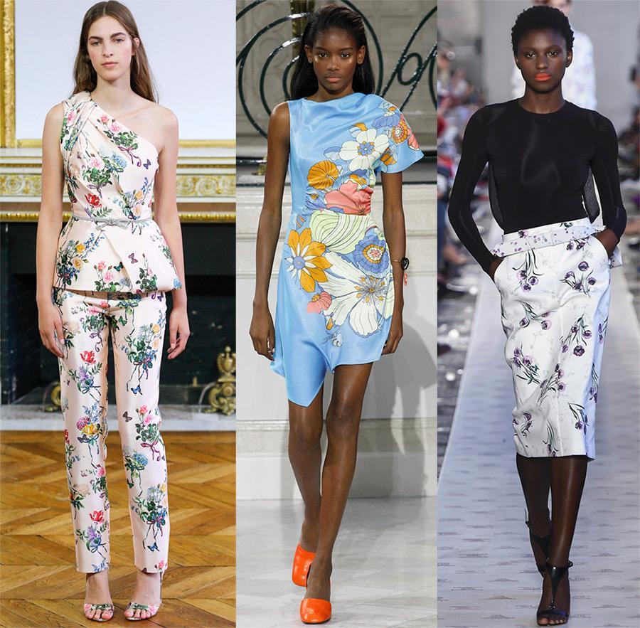 Цветочные принты в одежде 2019